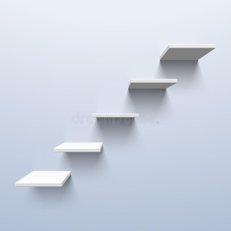 Półki w formie schodków ilustracja wektor
