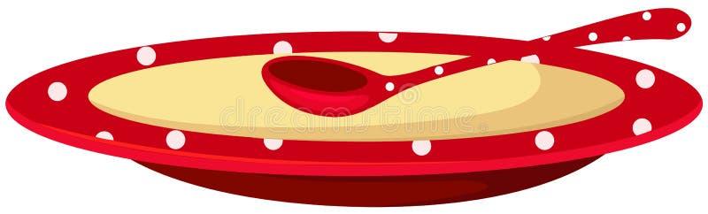 półkowa zupna łyżka royalty ilustracja