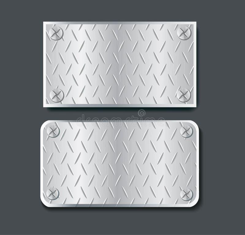 Półkowego metalu sztandaru ustalona wektorowa ilustracja ilustracja wektor