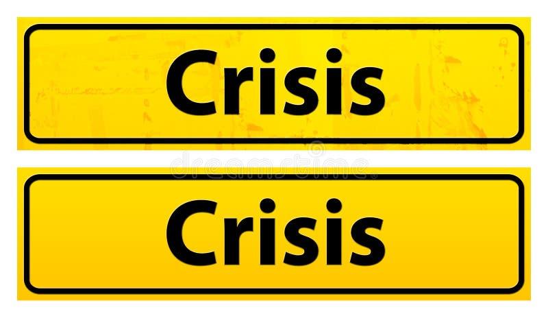 półkowy kryzysu ostrzeżenie ilustracji