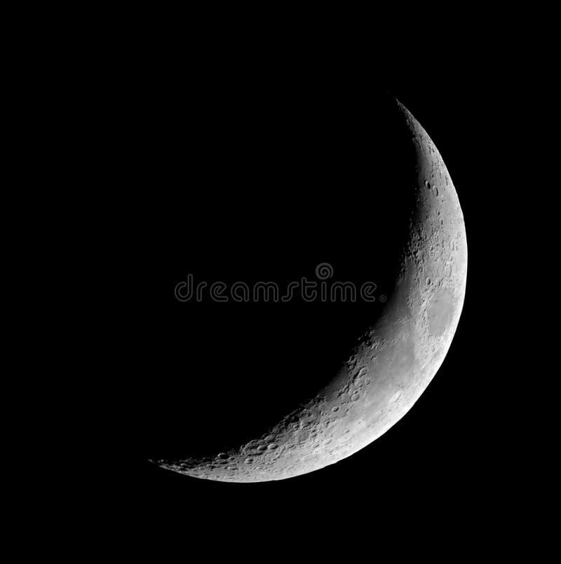 Półksiężyc księżyc fotografia stock