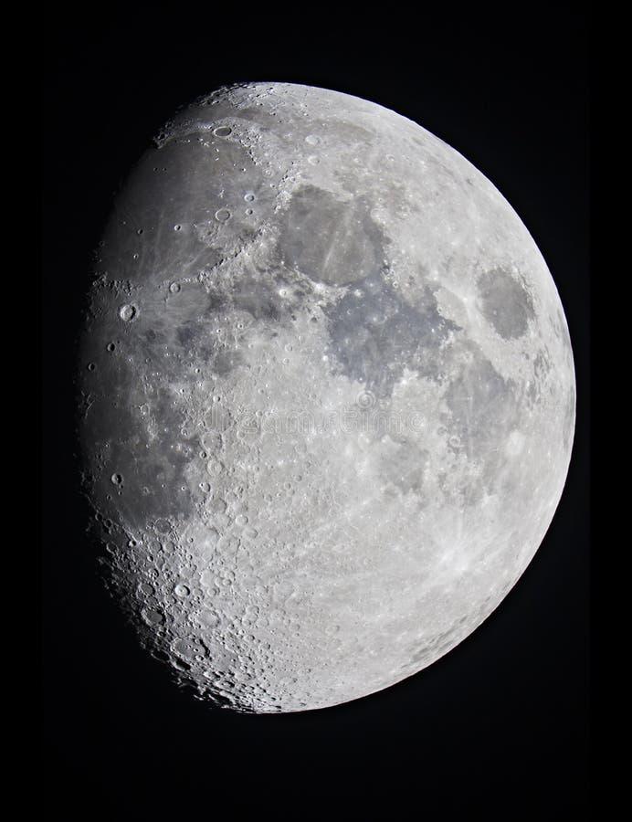 Półksiężyc księżyc przy 80 procentami obrazy stock