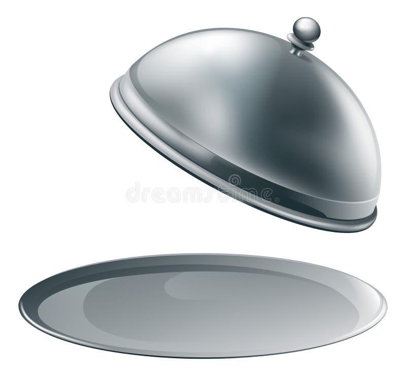 półmiska otwarty srebro ilustracja wektor