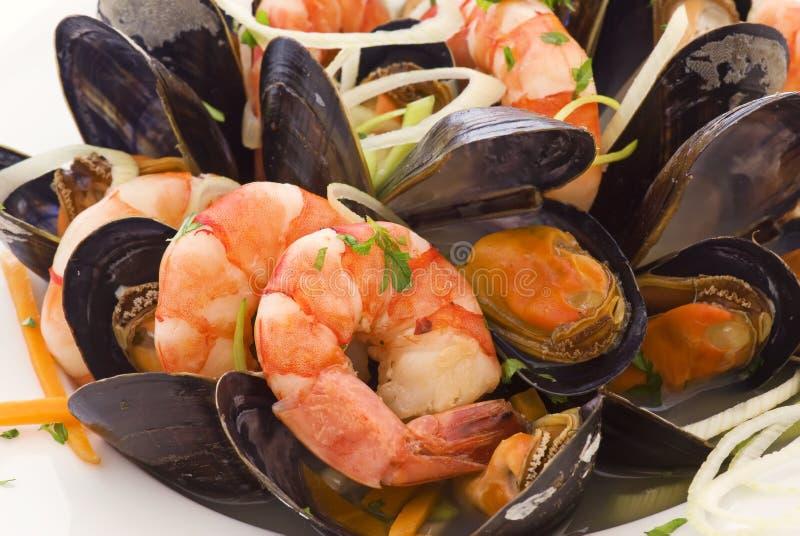 półmiska owoce morza zdjęcie royalty free