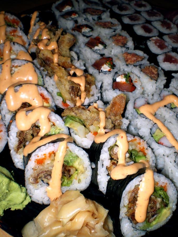 półmiska sushi zdjęcie royalty free