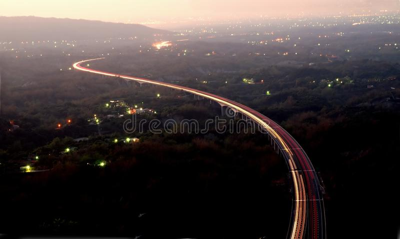 półmrok autostrada fotografia royalty free
