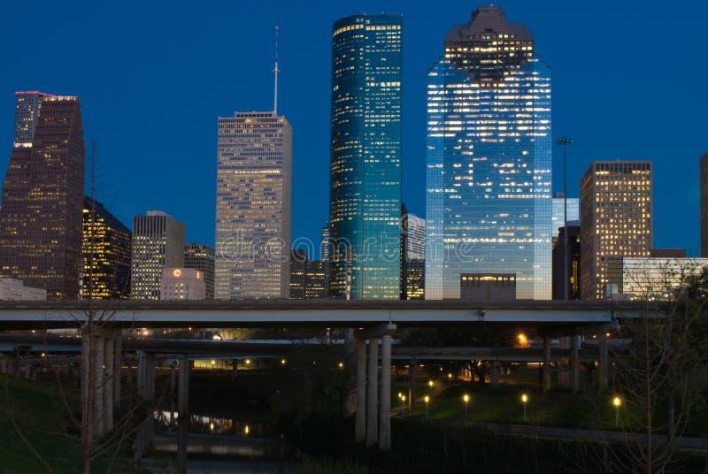 półmrok Houston Texas zdjęcia royalty free