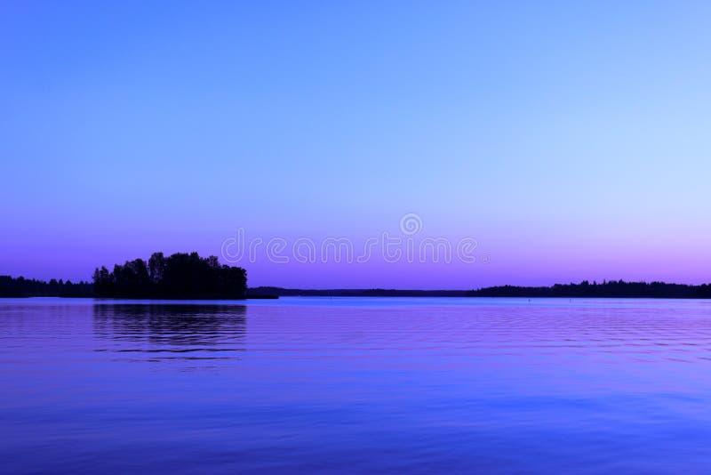 Półmrok przy Skandynawskim morzem bałtyckim obraz royalty free
