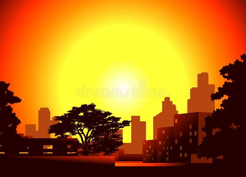 Półmrok w mieście ilustracji