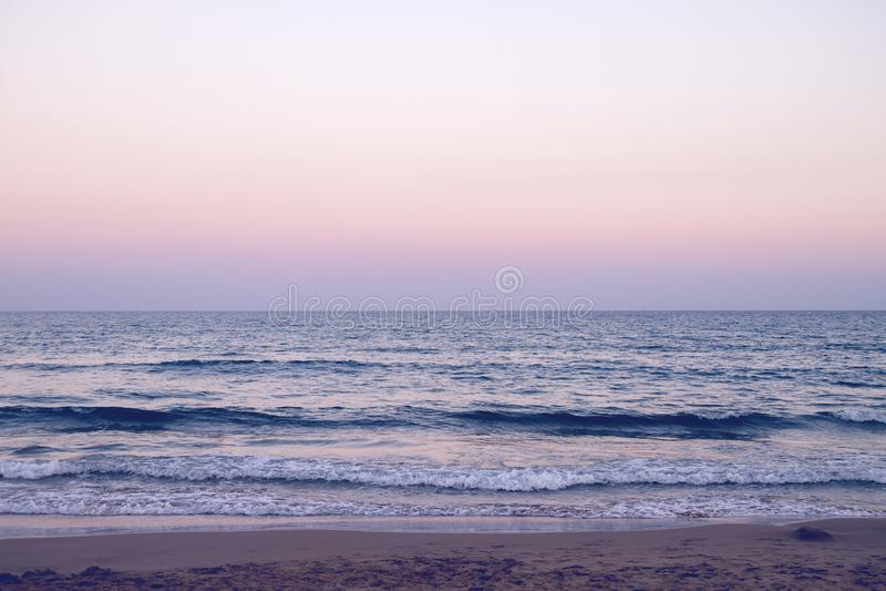 Półmrok w plaży zdjęcie royalty free