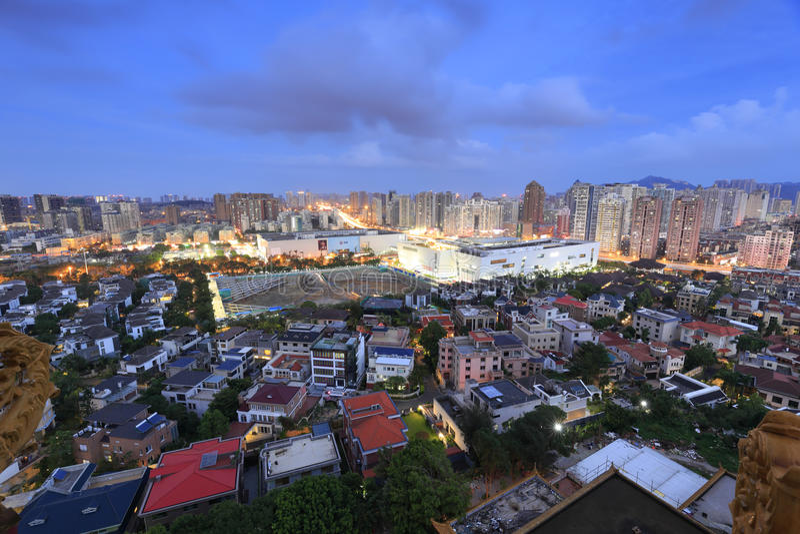 Półmrok wushipu w Xiamen mieście zdjęcie royalty free