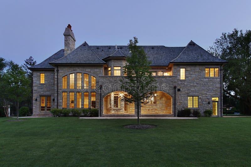 półmroku domowy luksusu kamień zdjęcie stock