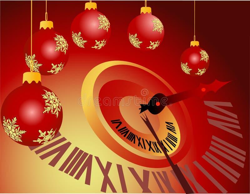 północ nowego roku ilustracja wektor