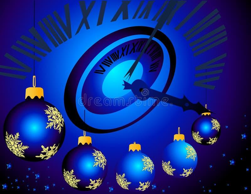 północ nowego roku ilustracji