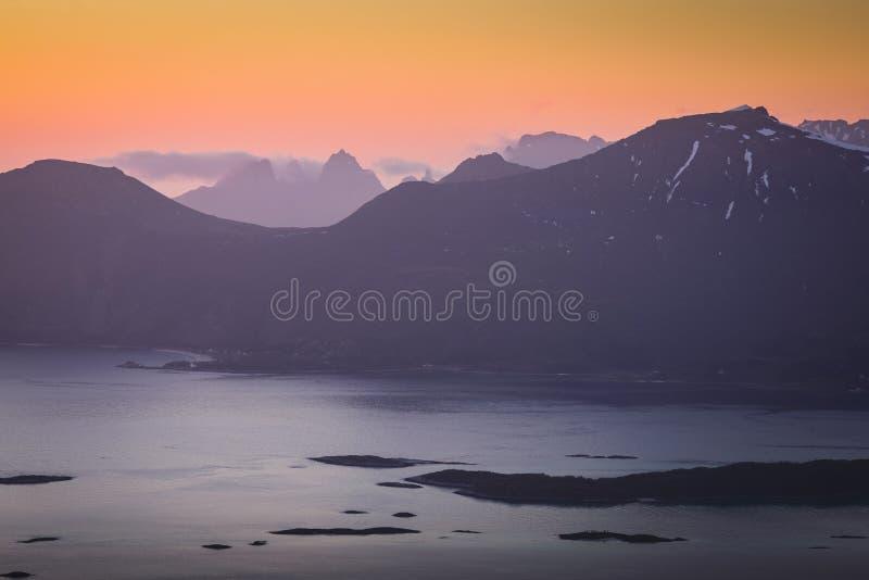 P??noc w fjords zdjęcia stock