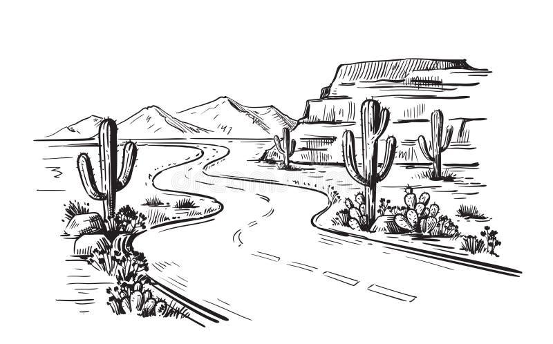Północna Ameryka Arizona ilustracja wektor