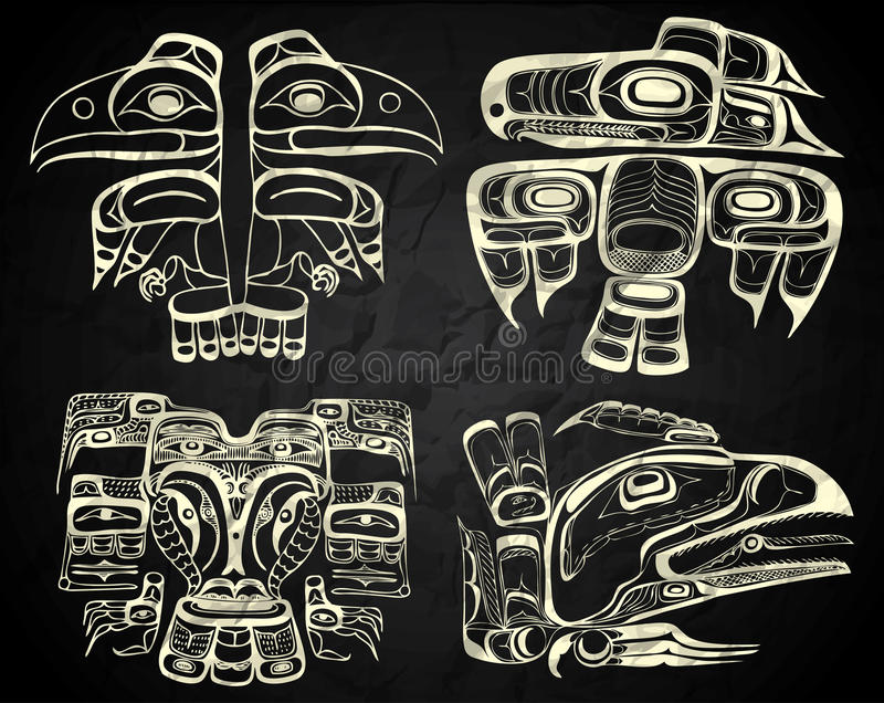 Północna Ameryka i Kanada miejscowego sztuka ilustracji