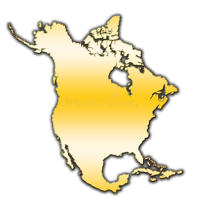 Północna Ameryka konturu mapa obraz royalty free
