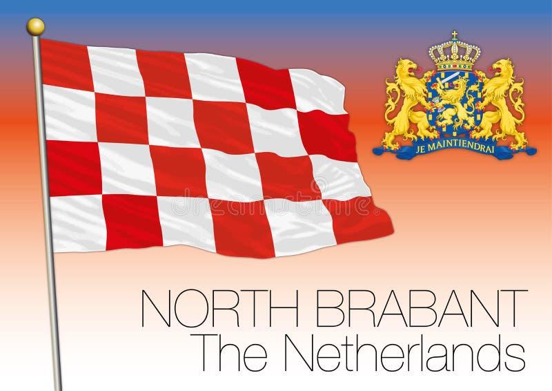 Północna Brabant regionalności flaga, holandie, Europejski zjednoczenie royalty ilustracja