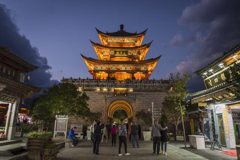 Północna brama, Dali Stary miasteczko, Yunnan prowincja, Chiny zdjęcia stock
