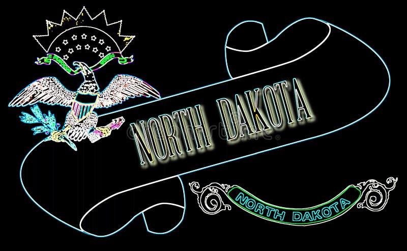 Północna Dakota ślimacznica ilustracja wektor