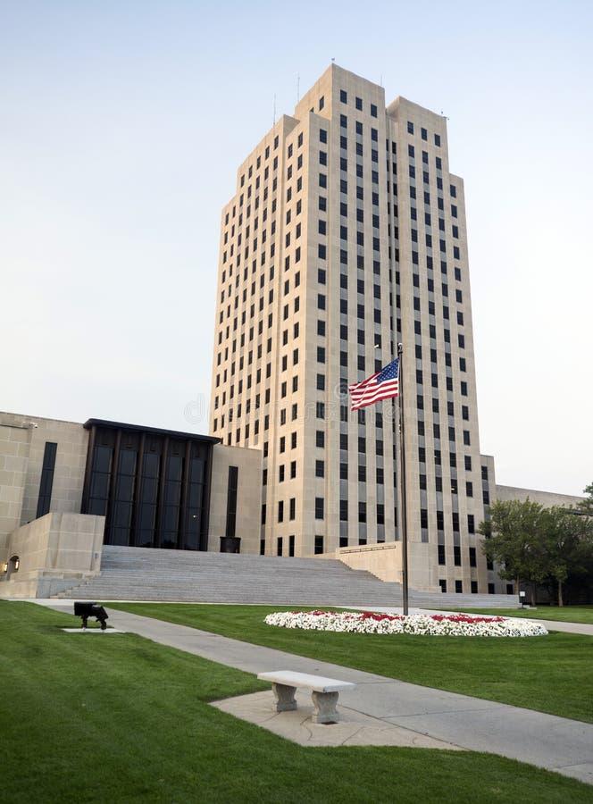 Północna Dakota stolica kraju Buduje Bismarck ND usa obraz stock