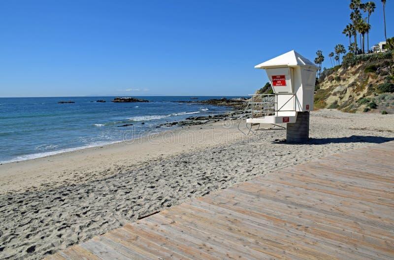Północna końcówka boardwalk na magistrali plaży w laguna beach, Kalifornia obrazy royalty free