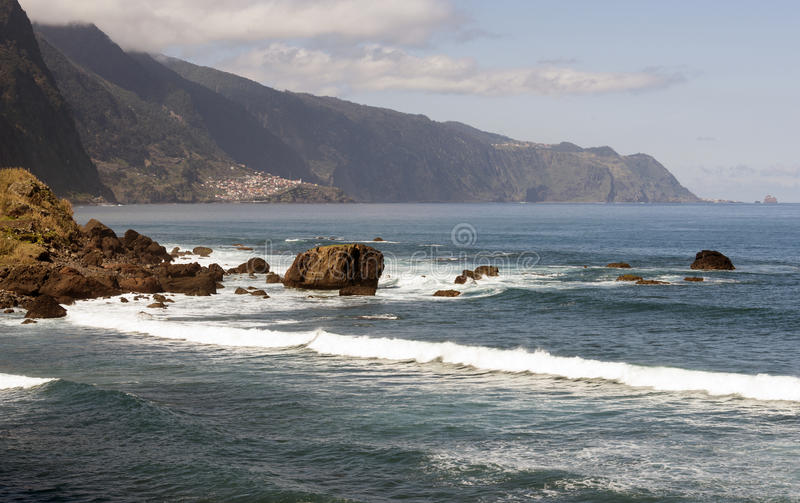 Północna linia brzegowa Madeira fotografia royalty free