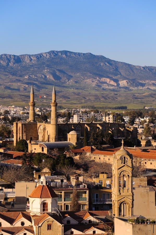 północna Nicosia pocztówka obraz royalty free