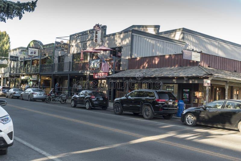 Północna tajna kryjówka Uliczny Jackson Wyoming zdjęcie stock