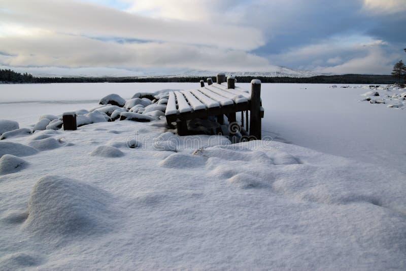 Północna ziemia śnieg zdjęcie stock