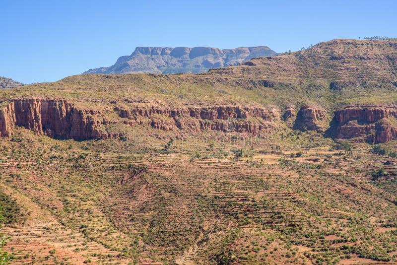 Północne Etiopskie góry w zimie zdjęcia stock