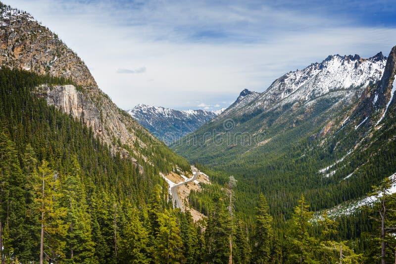 Północne Kaskadowe góry obraz stock