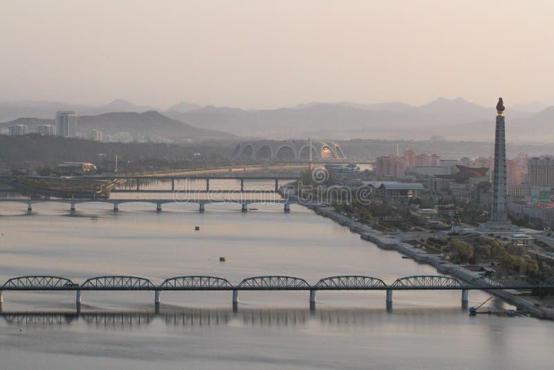 Północnego Korea brzeg rzeki obrazy royalty free