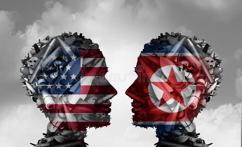 Północnego Korea I Stany Zjednoczone rozmowy ilustracja wektor