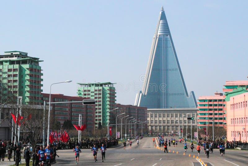 Północnego Korea maraton zdjęcia royalty free