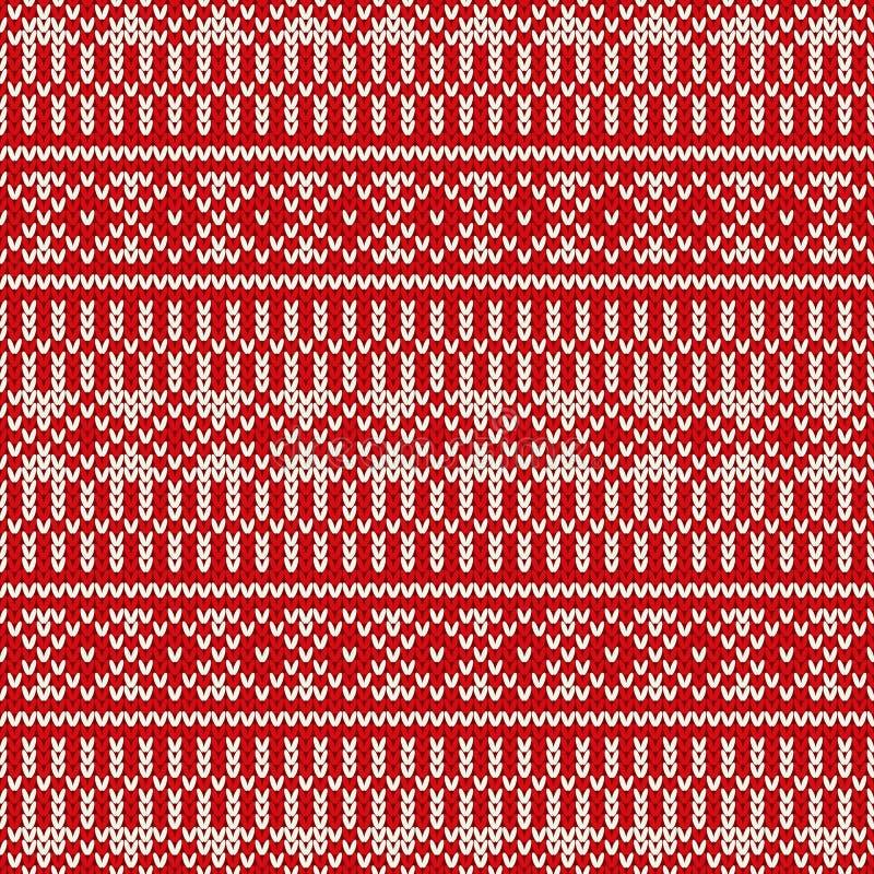 Północnego tradycyjnego Uczciwego wyspa stylu bezszwowy trykotowy wzór ilustracja wektor