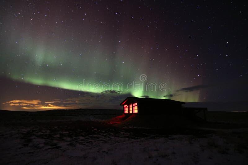 Północni światła, Iceland zdjęcie royalty free