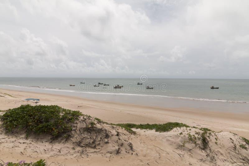 Północni coastile, rio grande robią Norte, Brazylia obrazy stock