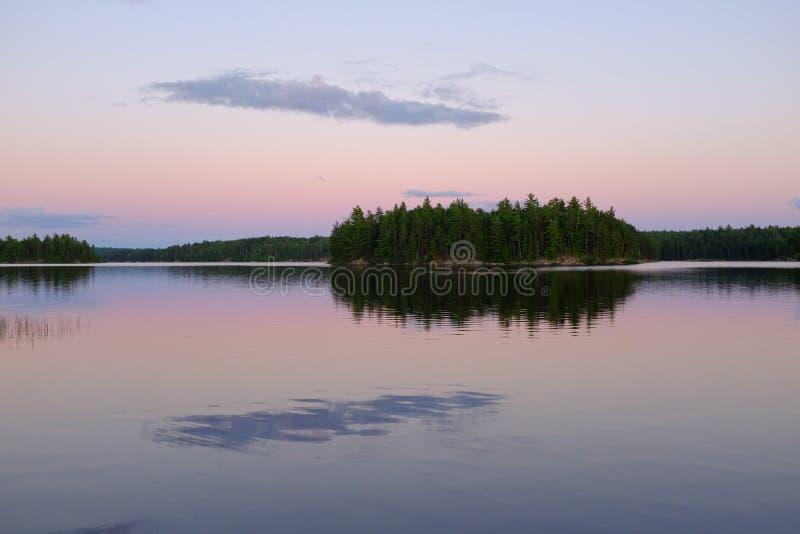 Północni Ontario jeziora zdjęcie royalty free