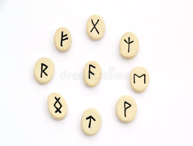 Północni runes - okręgu kształt obrazy royalty free