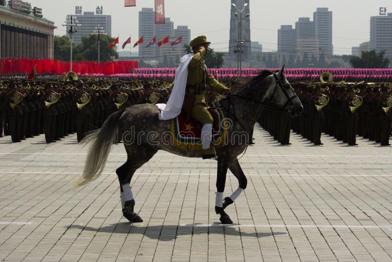 Północno-koreańska kawaleria zdjęcie royalty free