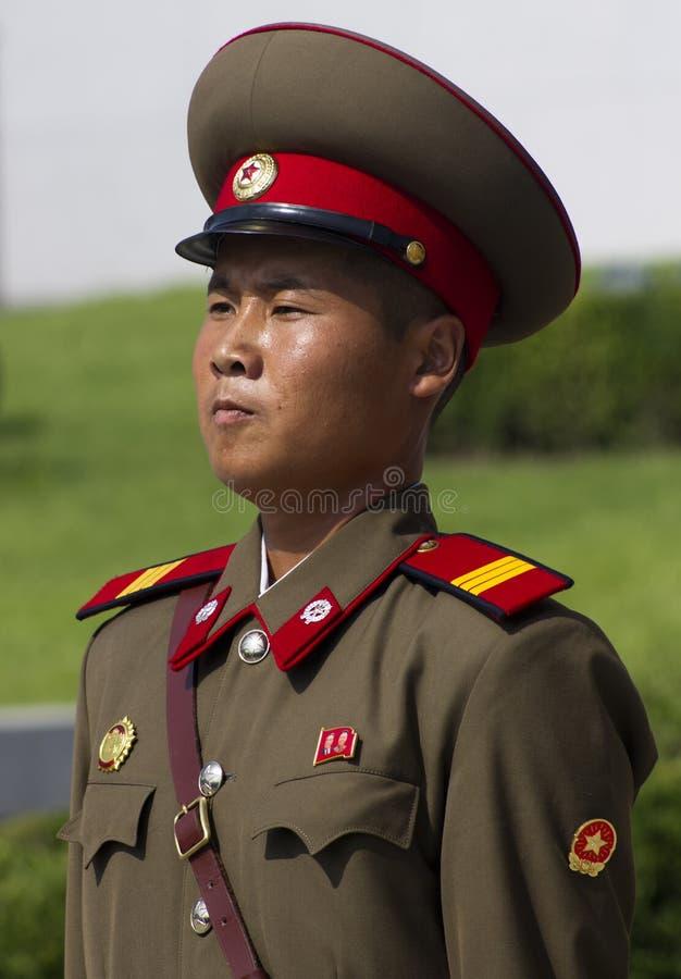 Północno-koreański żołnierz zdjęcie royalty free