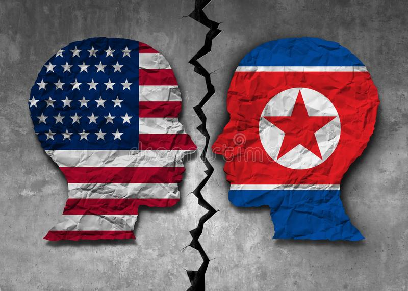 Północno-koreański Amerykański wyzwanie royalty ilustracja