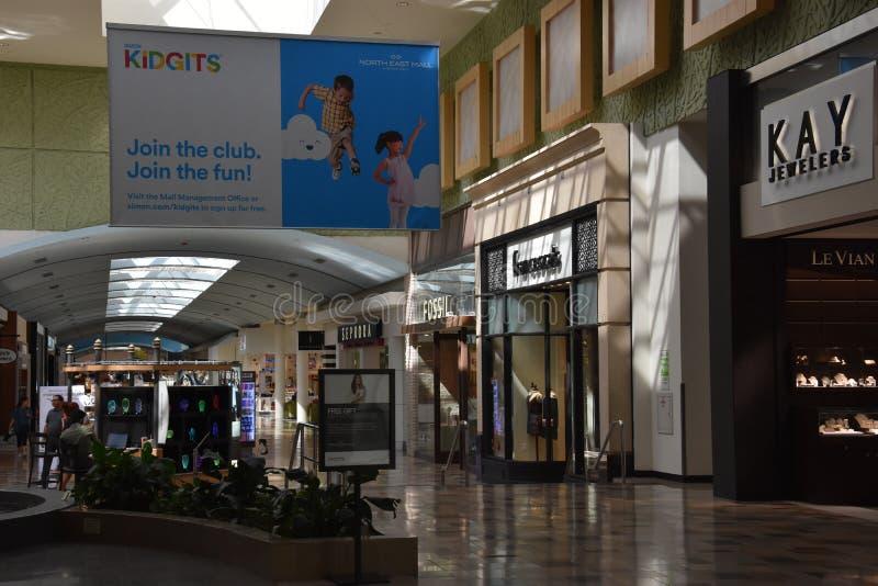 Północno-wschodni centrum handlowe w Hurst, Teksas obraz royalty free