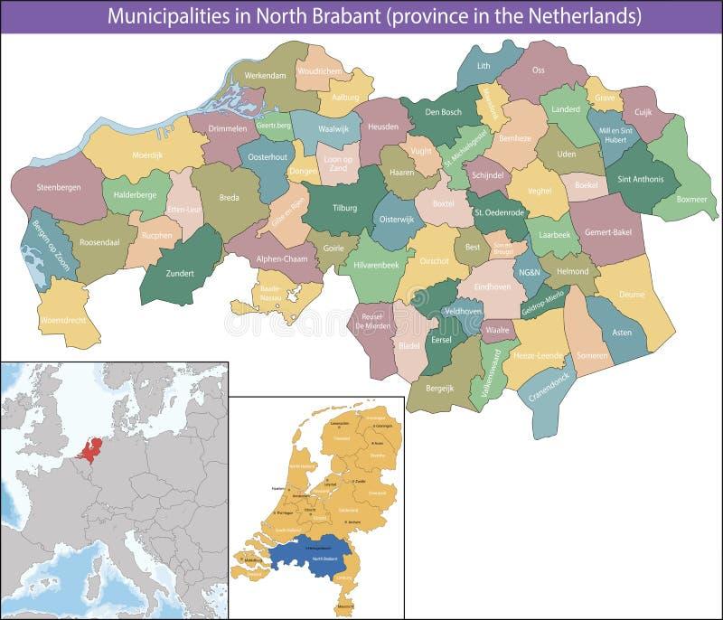Północny Brabant jest prowincją holandie zdjęcia royalty free