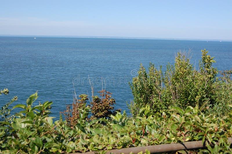 Północny brzeg wody widoku Long Island dźwięk obraz royalty free
