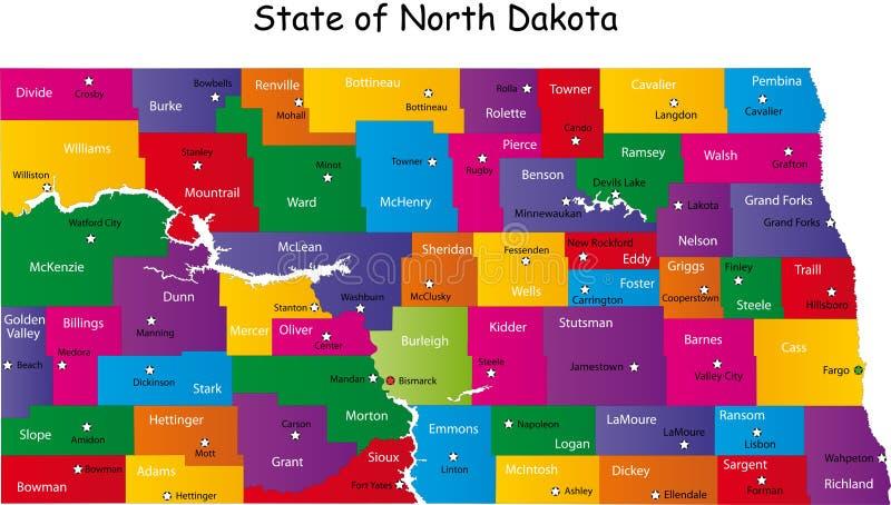 Północny Dakota ilustracji
