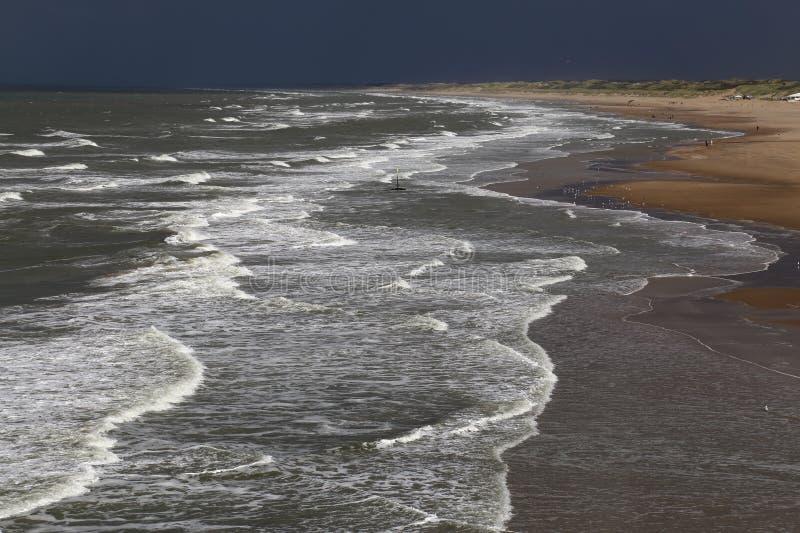 Północny Denny wybrzeże w Holandia obrazy royalty free