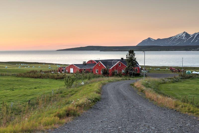 Północny dom wiejski, Iceland zdjęcia royalty free